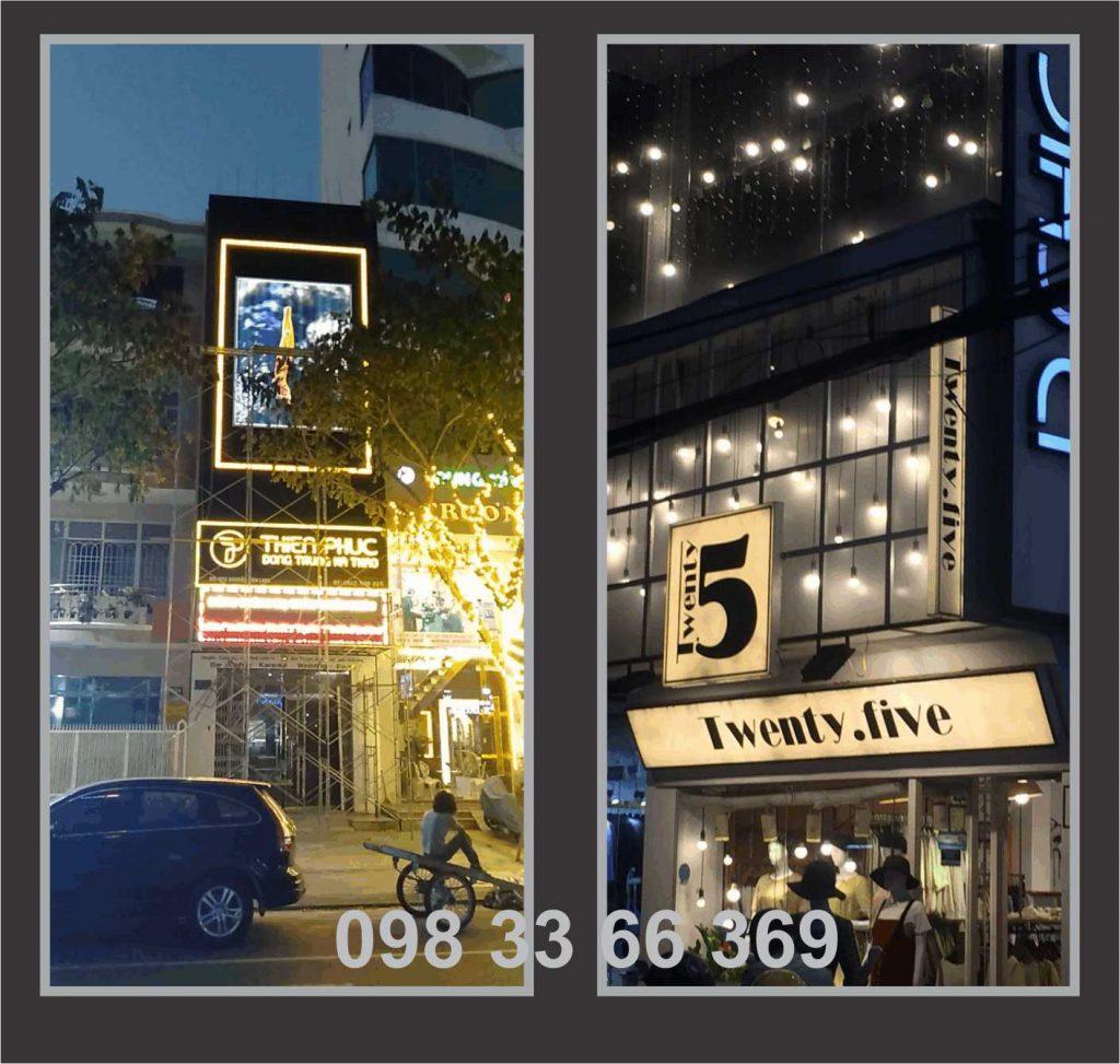 Làm biển hiệu Đèn Led quảng cáo cửa hàng