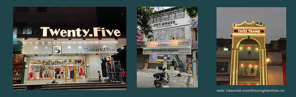 Làm biển cho các shop thời trang cửa hàng thời trang