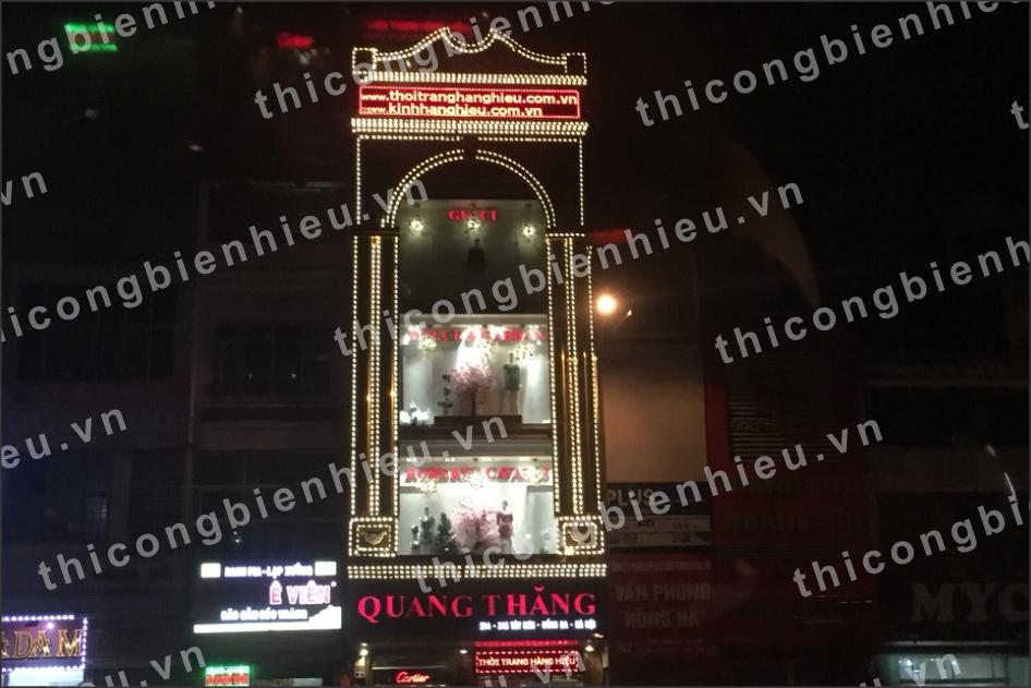 Biển hiệu đèn led và trang trí tòa nhà
